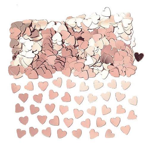 Rose Gold Hearts or Stars Table Confetti 14 Gram