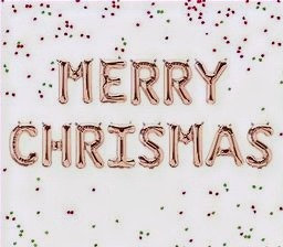 Merry Christmas Air fill Letters