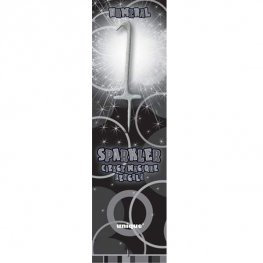 Silver Sparkler Candle Numbers 0-9