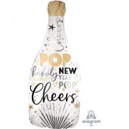 New Year Bubbly Bottle Supershape Balloon