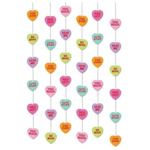 6 String  decorations cute phases Valentine hanging heart strings