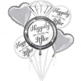 Happily Ever After all foil balloon bouquet