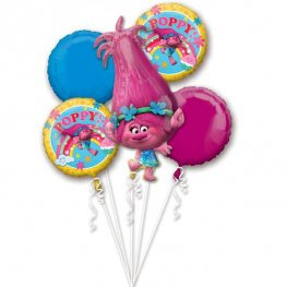 Trolls all foil Balloon Bouquet