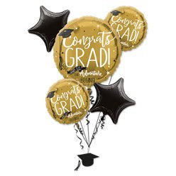Graduation Themed all foil Balloon Bouquet