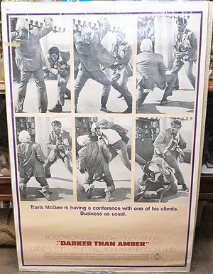 1950s-60s Movie Poster - Darker Than Amber