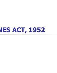 A Study of the Mines Act, 1952