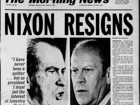 Resignation Of US President Nixon In 1974: The Watergate Scandal