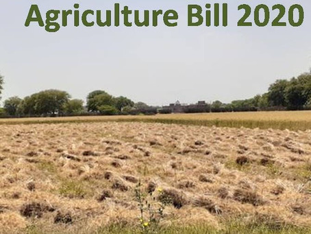 Agriculture Bill: Vociferous Protest based upon Anticipation