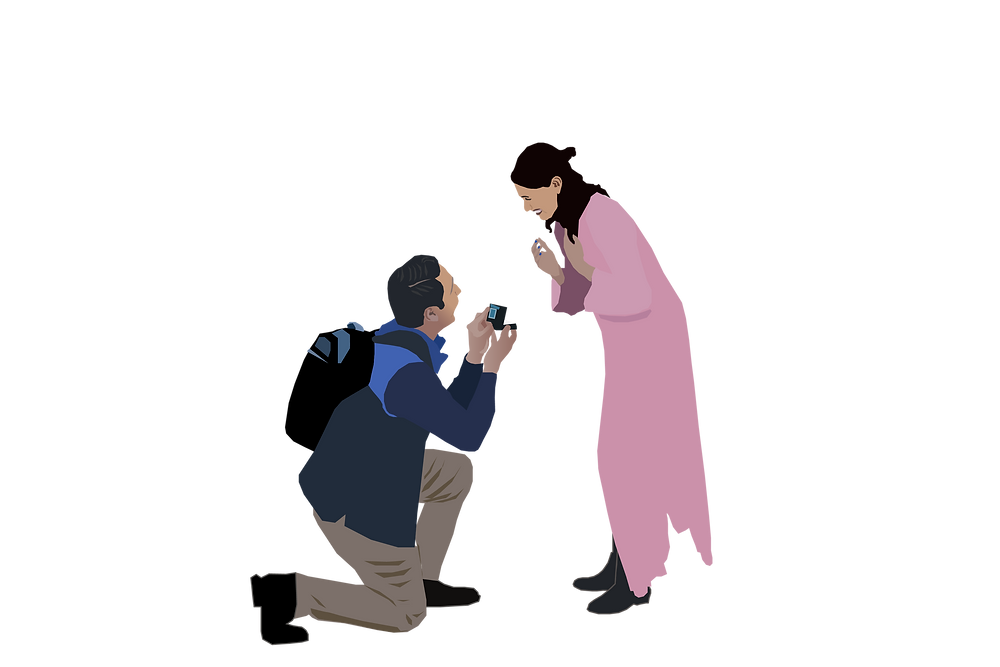 Digital Art creation of Sanjana and Pious Proposal from a few months before!