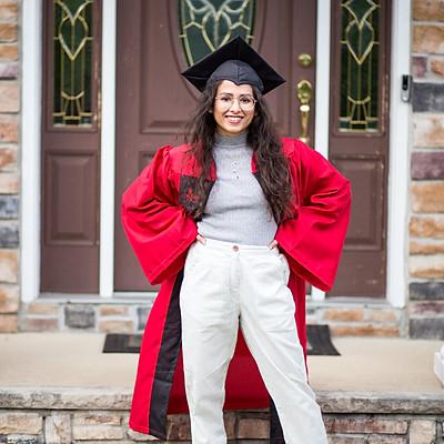 Ishita's Graduation - Porch Portraits