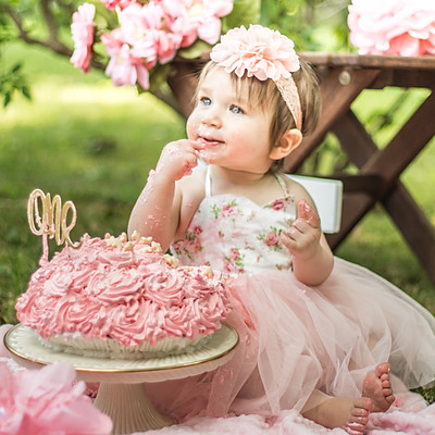 Tziona's 1st Birthday Cake Smash