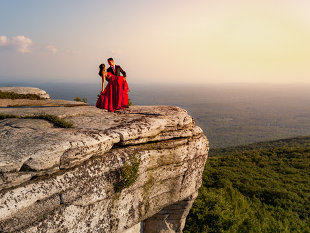 Enchanted Mountain Top Engagement Session with Sanjana & Pious