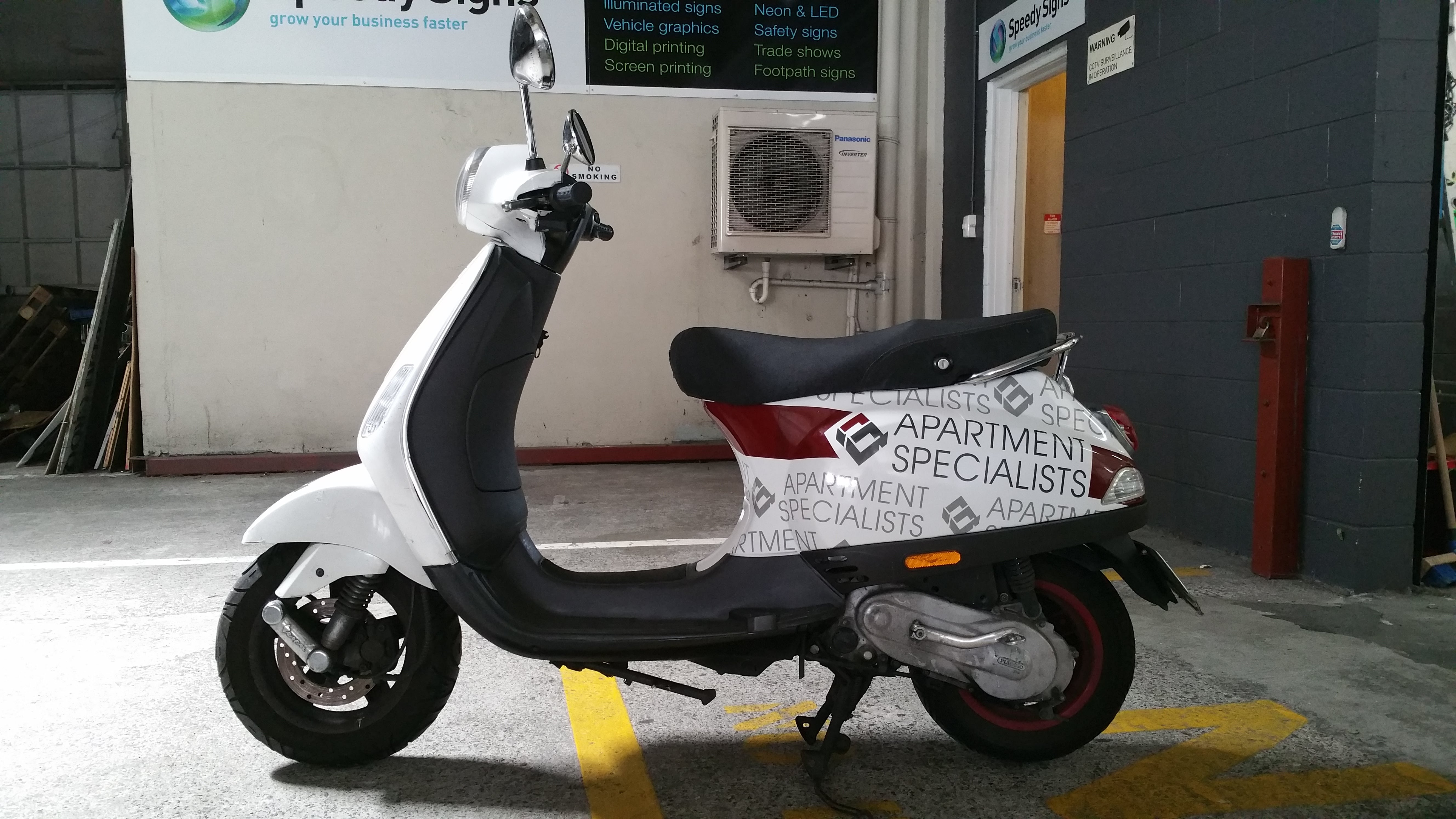 Scooter Wrap and Signage