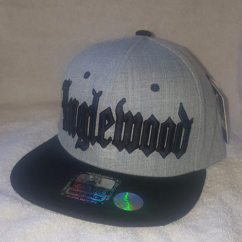 Gray/Black Snap-Back Inglewood Hat