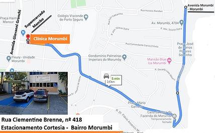 Mapa desde av Morumbi