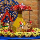 detalhe mesa decorada