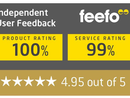 Feefo rating on the Quingo Flyte