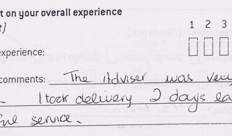 Mrs Holloway from St Albans thanks for your feedback, it is much appreciated!