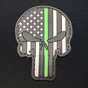 Punisher Skull Green Line.jpg
