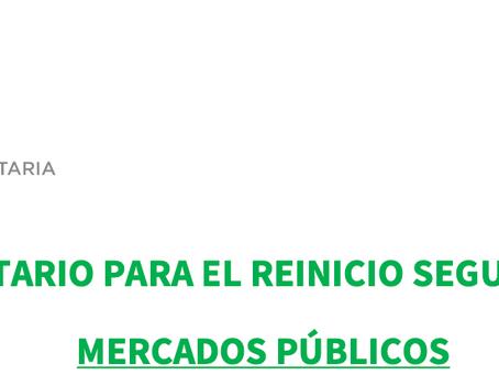 PROTOCOLO SANITARIO MERCADOS PÚBLICOS