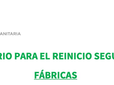 PROTOCOLO SANITARIO FÁBRICAS