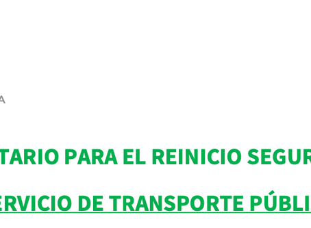 PROTOCOLO SANITARIO TRANSPORTE PÚBLICO