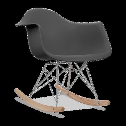 charles ray eames inspired rar rocker chair dark grey chrome charles ray furniture
