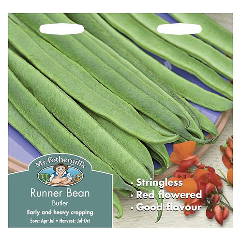Runner bean seeds Butler Stringless
