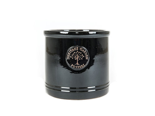 Black Heritage pot W25cm x H22cm