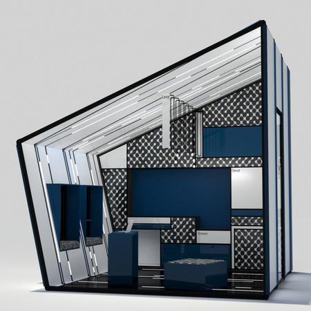 הדמיית מבנה כחול