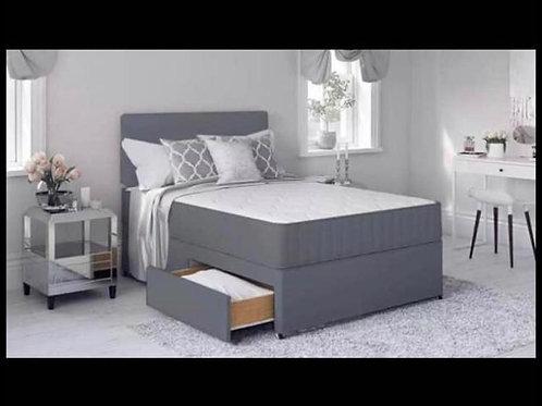 Classic Divan Bed (Grey Suede)