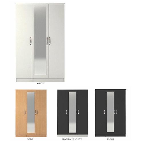 Classic 3 Door Mirrored Wardrobe