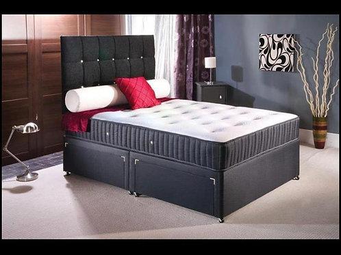 Classic Divan Bed (Chesterfield Headboard & Draws)