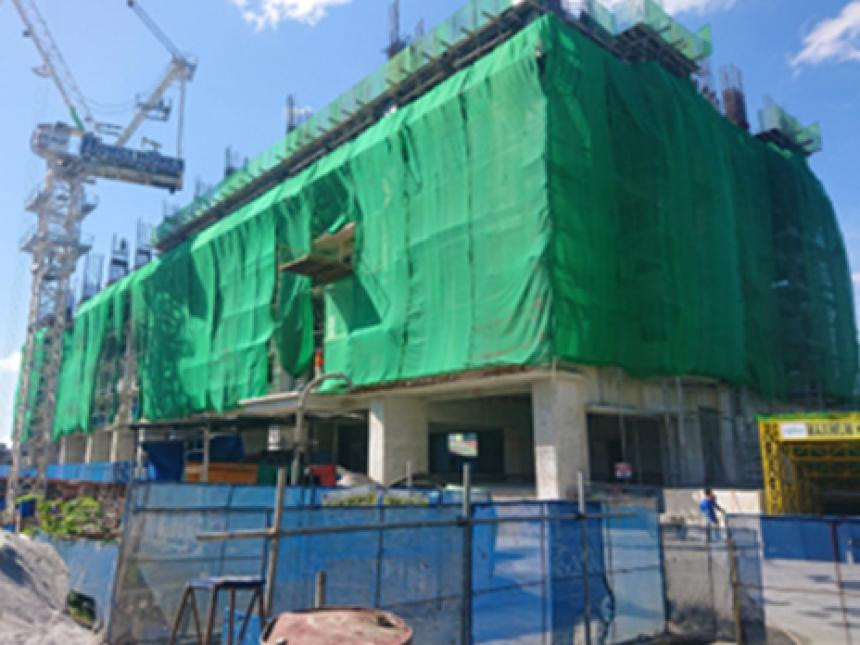 North Tower - On-going structural works at 7th floor to 6th floor