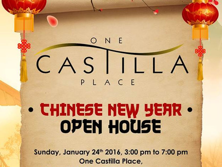 One Castilla Place, Quezon City Openhouse Event January 24, 2016