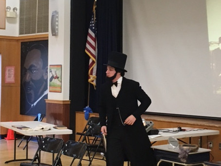 2015: Abraham Lincoln at all School Assembly