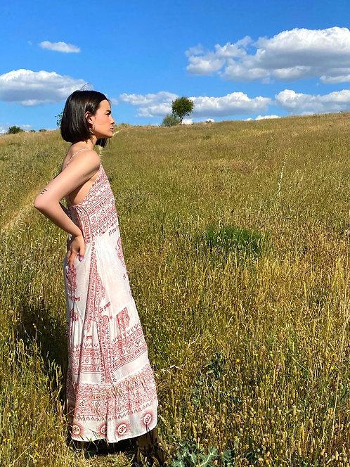 White ibiza sleeveless dress