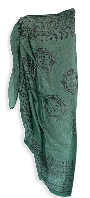 Dark green pareo skirt