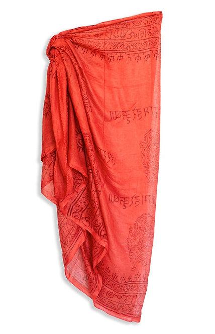 Red tomato pareo skirt