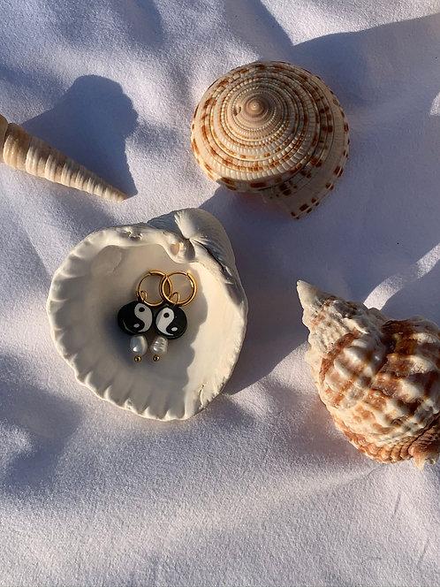 Yin-yang earrings