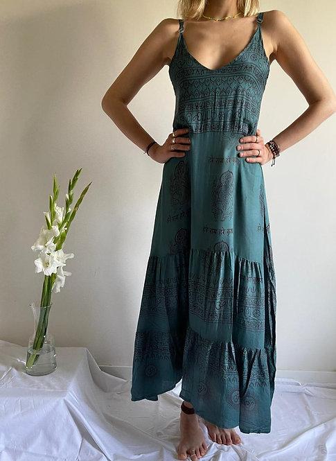 Green Tulum sleeveless dress