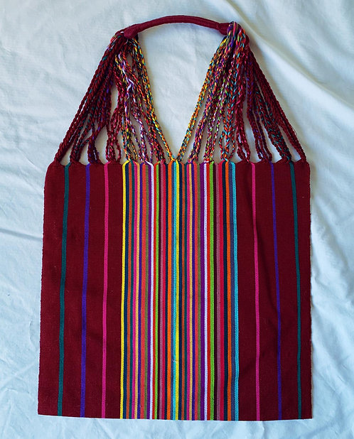 Burgundy market bag