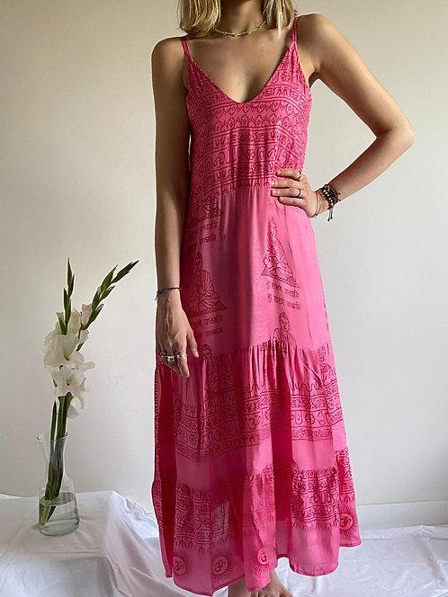 Pink lady sleeveless dress