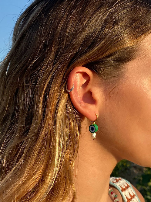 Turkish eye earrings