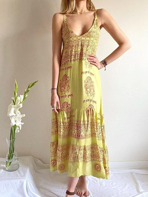 Lemon sleeveless dress