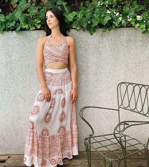 White Ibiza skirt