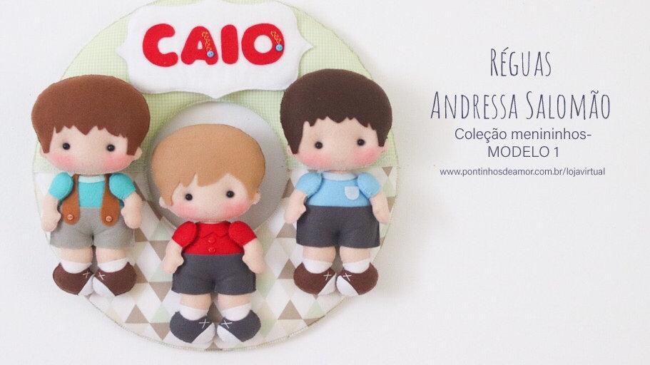 Régua menininho 15 cm - Andressa Salomão