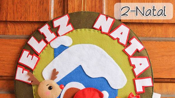 Apostila de feltro Guirlanda de natal - Digital