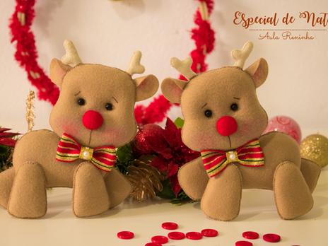 Especial de Natal- Aulas  de feltro Gratuitas