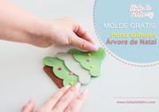 Aula  de feltro gratuita - porta talheres Árvore de Natal